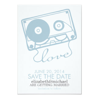 The Perfect Mix Wedding Save the Date {light blue} Card