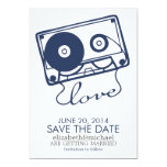 The Perfect Mix Wedding Save the Date {navy blue} Card