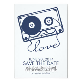 The Perfect Mix Wedding Save the Date {navy blue} Personalized Invite