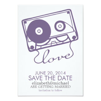 The Perfect Mix Wedding Save the Date {purple} Card
