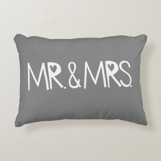 The Perfect Mr And Mrs Wedding Gift Decorative Pillow Zazzle Awesome Mr And Mrs Decorative Pillows