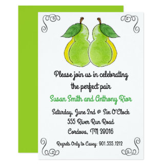 The Perfect Pair Bridal Shower Invitation