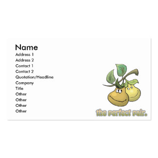 the perfect pair pears business card templates