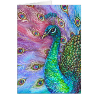 The Perfect Peacock. Card
