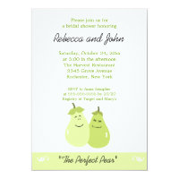 The Perfect Pear 5x7 Bridal Shower Invitation