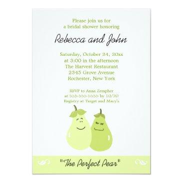 The Perfect Pear 5x7 Bridal Shower Invitation
