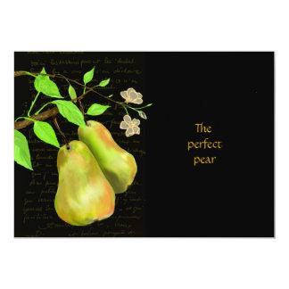 The Perfect Pear Black 5x7 Paper Invitation Card