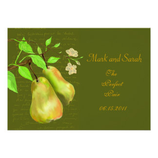 The Perfect Pear Custom Invitations