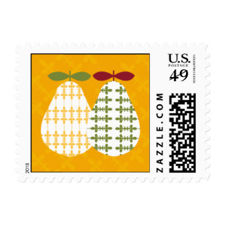 The Perfect Pear Postage Stamps