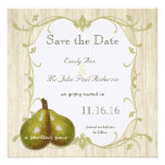 The Perfect Pear Save the Date Personalized Announcements