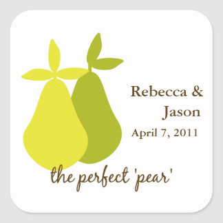 The Perfect Pear Square Sticker