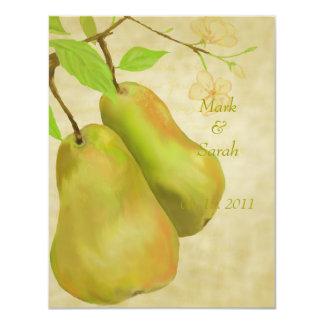 "The Perfect Pear Vintage II RSVP 4.25"" X 5.5"" Invitation Card"