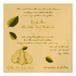 The Perfect Pear Wedding Invitation