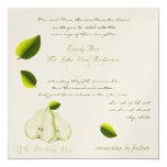 """The Perfect Pear Wedding Invitation 5.25"""" Square Invitation Card"""
