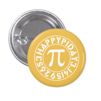 The Perfect Pi Day Pinback Button