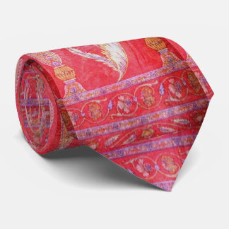 The perfect vintage red silk Indian Tie *