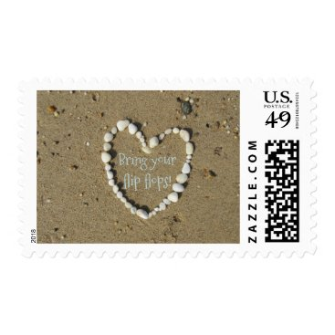 Beach Themed The perfect way to start your invitation for fun! postage