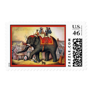 The Performing Elephant Vintage Circus Stamps