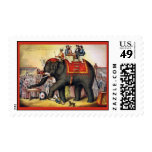 The Performing Elephant  ~ Vintage Circus Stamps