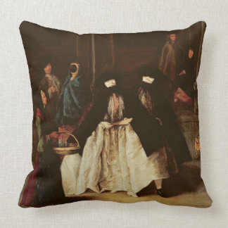 The Perfume Seller (oil on canvas) (see alo 166068 Throw Pillow