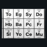 """The Periodic Breakfast Table Cloth Placemat<br><div class=""""desc"""">The elements of a delicious breakfast</div>"""