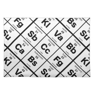 The Periodic Table of Dessrts Cloth Placemat