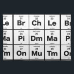 """The Periodic Table of Sandwich Ingredients Cloth Placemat<br><div class=""""desc"""">The elements of a good sandwich</div>"""