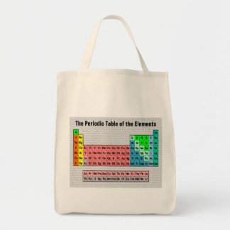 The Periodic Table (Simple w/ Element Background) Tote Bag