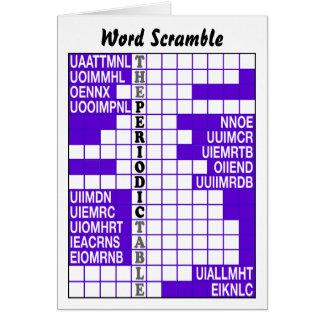 The Periodic Table Word Scramble Greeting Card