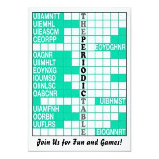 The Periodic Table Word Scramble Invite