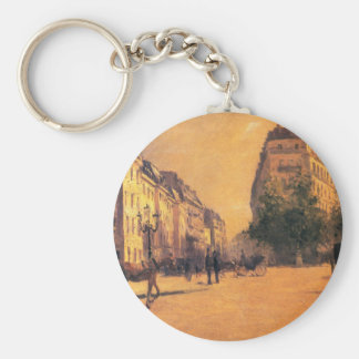The Perpiniere Barracks by Gustave Caillebotte Keychain