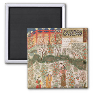 The Persian Prince Humay Meeting the Chinese 2 Inch Square Magnet