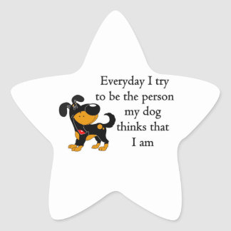 The person my dog thinks that I am Star Stickers