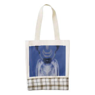 The Person on blue background Zazzle HEART Tote Bag