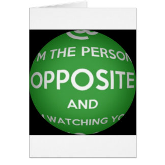 The Person Opposite Card