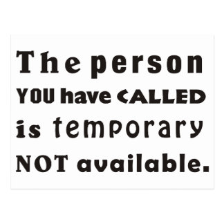 The person you have called postales