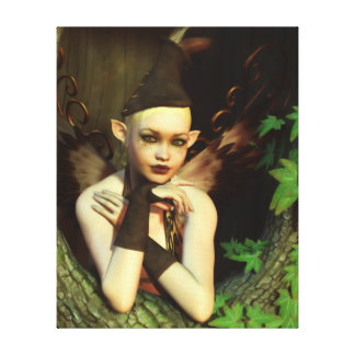 The Perspicacious Faerie Wrapped Canvas Print