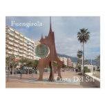 The Peseta Coin Sculpture Post Card