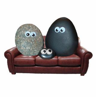 The Pet Rock Family 2 Sculpture