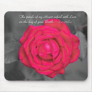 The Petals Of My Heart Unfurl... Mousepad