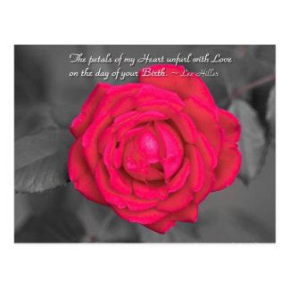 The Petals Of My Heart Unfurl... Postcard