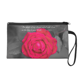 The Petals Of My Heart Unfurl... Wristlet Purse