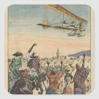 The 'Petit Journal' airplane flying over Square Sticker