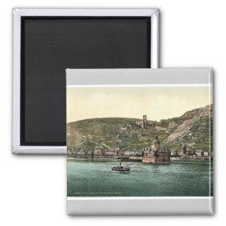 The Pfalz on the Rhine, Coub (i.e., Kaub), the Rhi Fridge Magnet