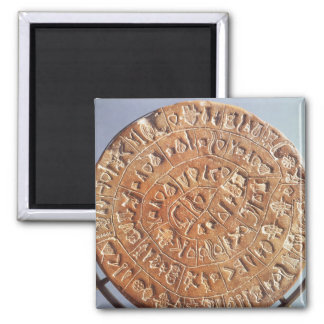 The Phaistos Disc, with unknown significance 2 Inch Square Magnet