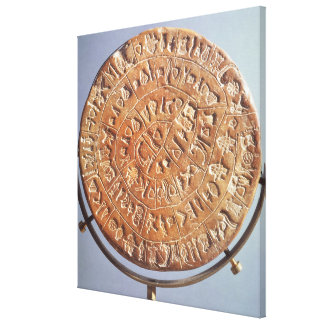 The Phaistos Disc, with unknown significance Canvas Print