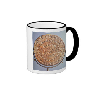 The Phaistos Disc, with unknown significance Ringer Mug