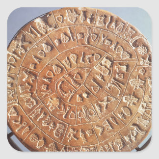 The Phaistos Disc, with unknown significance Square Sticker