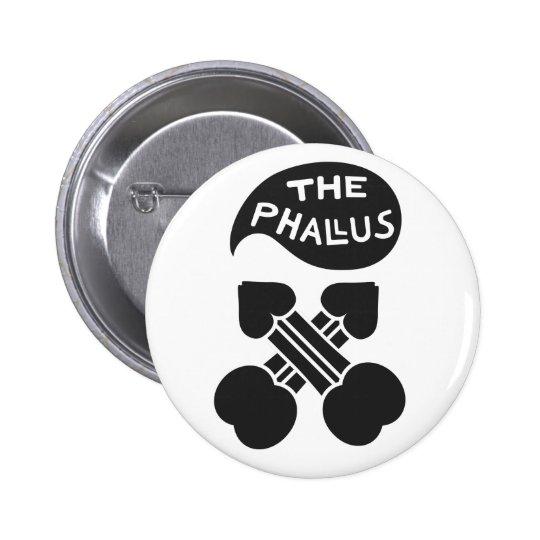 THE PHALLUS CROSSED PINBACK BUTTON