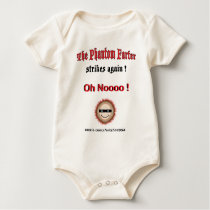 The Phantom Farter strikes again (baby) Baby Bodysuit